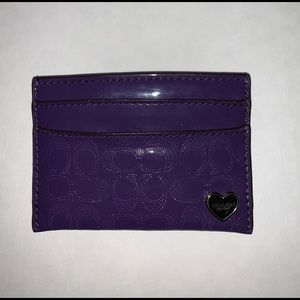 Coach card holder purple
